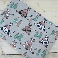 Cows MacBook Air 13 sleeve with zipper, MacBook Air 13 Sleeve, MacBook Pro 13 case, MacBook Air 13 Cover, MacBook Pro 13 sleeve, Laptop