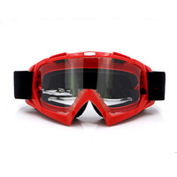 Adult Colourful double Lens Snow Ski Snowboard Goggles Motocross Anti-Fog Fashion Eye Protection Red Lucency