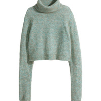 H&M - Turtleneck Sweater - Light turquoise - Ladies