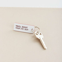 Various Keytags Holiday Keychain - Urban Outfitters