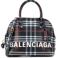 Ville S plaid leather shoulder bag