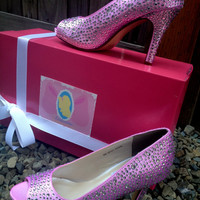 Celestine Crystal Princess Heels Couture Style Adult Pair Shoes Dress Shoes Heels Custom Made