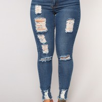 Body Moves Ankle Jeans - Dark