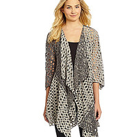 IC Collection Holey Cardigan - Black