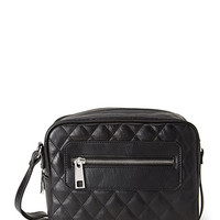 FOREVER 21 Quilted Faux Leather Crossbody Bag