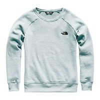 Women's Slammin Fleece Crew in Blue Haze Heather by The North Face