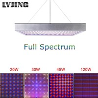 Thin Full Spectrum LED Grow Light For Clones & Vegetative Growth -  20W, 30W, 45W, 120W, 200W