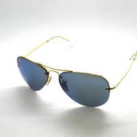 Cheap RAY BAN SunglaSSeS 3449 001/55 GOLD/BLUE MIRROR RayBan outlet