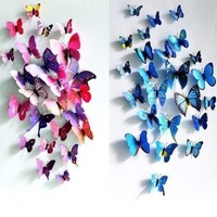 Fashion Room Decorations 3D Butterfly Sticker Art Design Decal Wall Stickers Home Decor  #mgsu.inc.# [8045598151]
