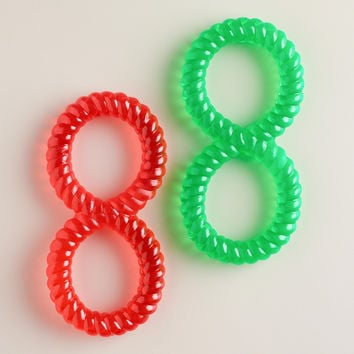Soft Rubber Chew Rings for Dogs, Set of 2 - World Market