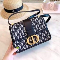 Dior 2019 new high quality women's D letter printing shoulder bag Messenger bag