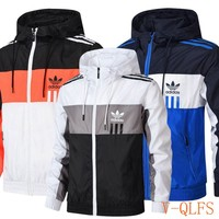HCXX 19Aug 375 Adidas 14858071 Woven Standing Collar Hooded Trench Coat
