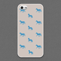 iPhone 5 / 5s case - The horses / Navy on gray - iPhone Case, iPhone 5 Case, Cases for iPhone 5 IPHONE 5