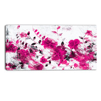 Pink Periwinkle Floral Canvas Wall Art Print