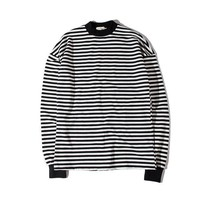 Oversized Striped Crew Neck Pullover