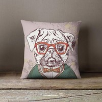 PUG Decorative Pillow Case PUG Kids Room Decor Decorative Throw Pillow Cover Pillow Shams Custom Pillowcase Cushion Cover PUG Dog Pillow