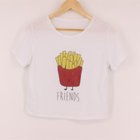 FRIends French Fry Crop Top T-Shirt
