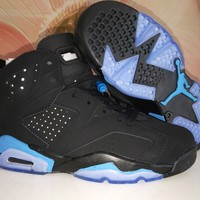 Air Jordan 6 Retro Men Women Black Blue