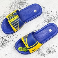 Nike Benassi Solarsoft Nba Golden State Warriors Slider Slipper - Best Deal Online