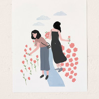 Tallulah Fontaine Sisters Art Print   Urban Outfitters