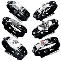 CHOOSE FROM Fairy Tail Death Note Bleach Naruto Attack on Titan Sharingan Luffy Wristband Bracelet Jewelry