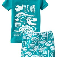 Dinosaur-Bones PJ Short Sets for Baby