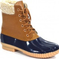 blair duck boots in navy