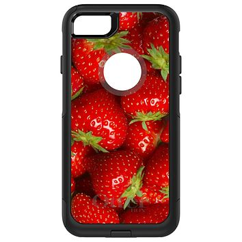 DistinctInk™ OtterBox Commuter Series Case for Apple iPhone or Samsung Galaxy - Bright Red Strawberries