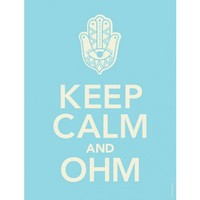 Keep Calm and Ohm Poster