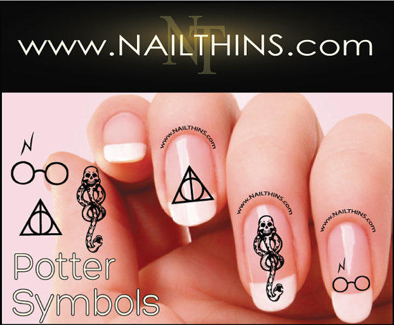 Harry Potter Nail decals Deathly Hallows from NAILTHINS on ...