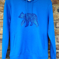 Glitter Bear Hoodie - Womens - low carbon, organic cotton, fairly traded