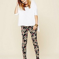 Free People  FP Printed Cord Skinny at Free People Clothing Boutique