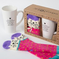 Every Cat Home Mug & Cozy Sock Set