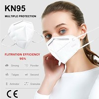 KN95 CE/FDA Certification Face Mask Anti Virus Mask Coronavirus Mascherine Bacteria Proof Flu Face Masks PM2.5 Anti-fog Strong Protective Mouth Mask FFP3 Respirator Reusable