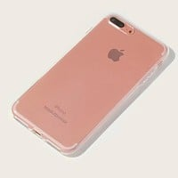 Fashion Casual Clear Simple iPhone Case