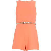 River Island Girls fluro orange crepe Romper