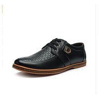 Casual Leather Lace Up Oxford Shoes