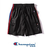 Champion New fashion embroidery letter couple shorts Black