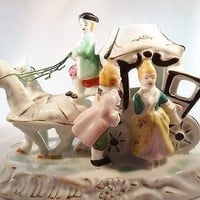 Vintage Hand Painted Figurine Made in Japan Cinderella Coach Carriage