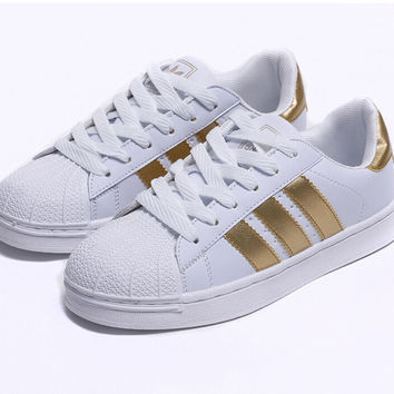 Womens Ladies Striped Lace Up Sport Running Sneakers Trainers Shell Toe Shoes OO