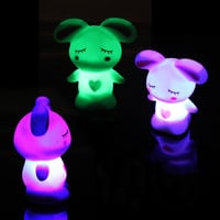 Changing Colors Night Lights Romantic LED Cute Lamp Novelty Rabbit Light for Kids