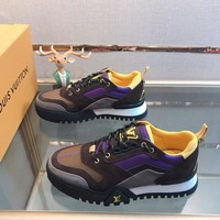 LV  Men popular Boots popularable Casual leather Breathable Sneakers Running Shoes