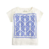 crewcuts Girls Embroidered Print Tee