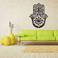 Wall Vinyl Sticker Decals Decor Art Hamsa Hand India Eye (Z1152)