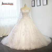 Ball gown long sleeves wedding dresses