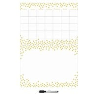 WallPops!® 2-Piece Dry-Erase Month Calendar/Message Board Set in Gold with Dry-Erase Marker