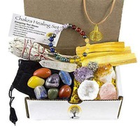17-pc White Sage, Palo Santo Wood & Crystal Healing Kit