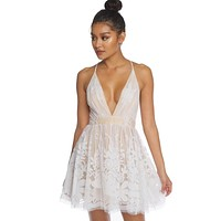 Summer Romance Dress (Ivory/Nude)