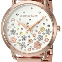 Michael Kors Watches Womens Portia Rose Gold-Tone Watch