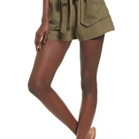 MOON RIVER Belted Shorts | Nordstrom